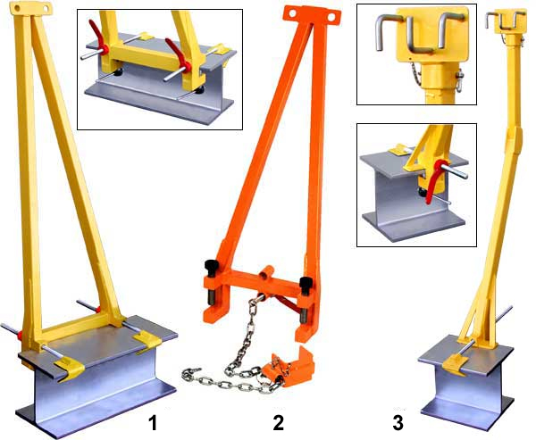 Horizontal Rope Lifeline Supports