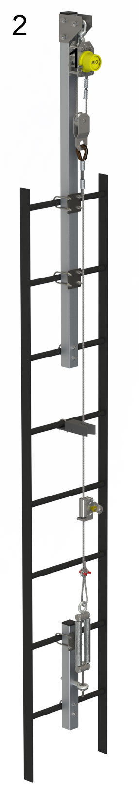 Vertical Cable Ladder D-Right  Safety System
